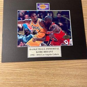 Kobe Bryant signed photo